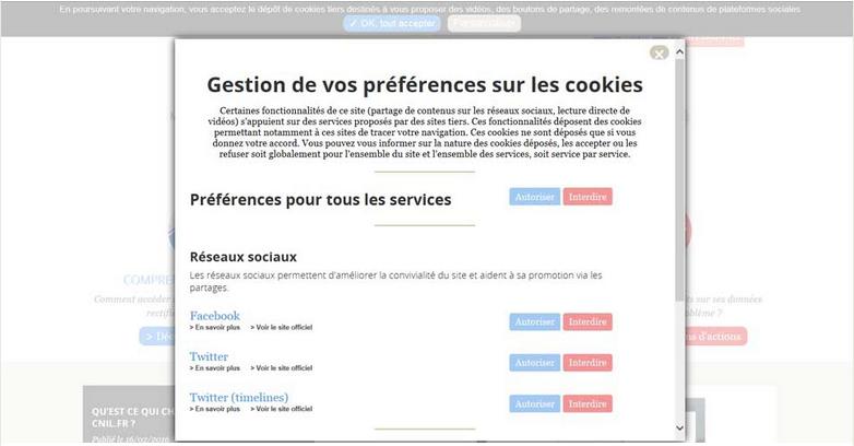 cookies cnil - melanie Grospart, numérique responsable